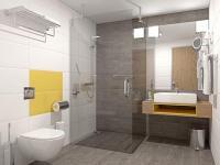 Elegáns fürdőszoba Lentiben a Balance wellness és thermal szállodában