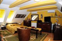 Szép és elegáns hotelszoba a Villa Classica szállodában Pápán
