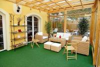 Panoráma Hotel télikertje Egerben - olcsó szállás Eger belvárosában